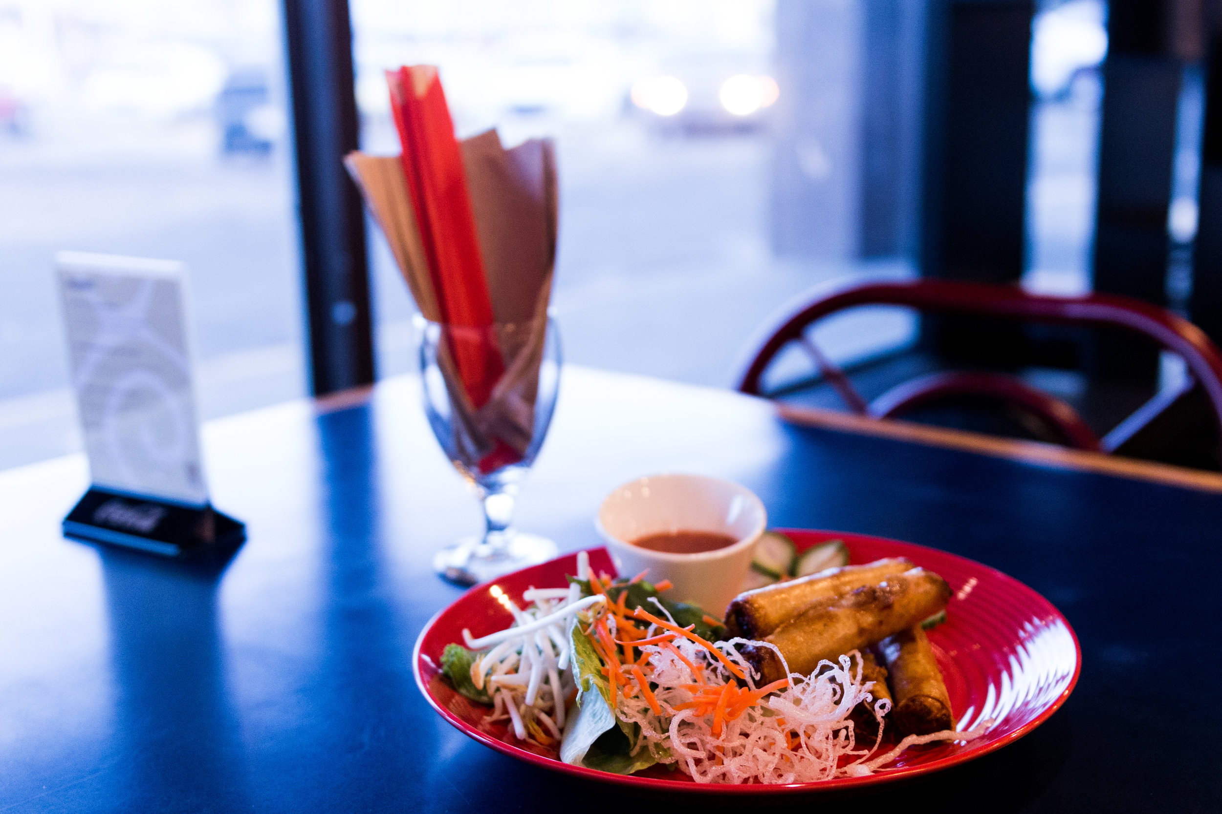 New dish preview. These spring rolls now have a home on the menu.