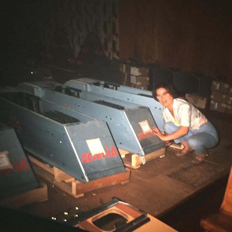 Bowling is a great way to get limber and blow off some steam. This is Betty Stride (aka Grandma Betty) in 1967 during the installation of Plaza Bowl's state-of-the-art pin-setting machines. They have kept things rolling ever since!