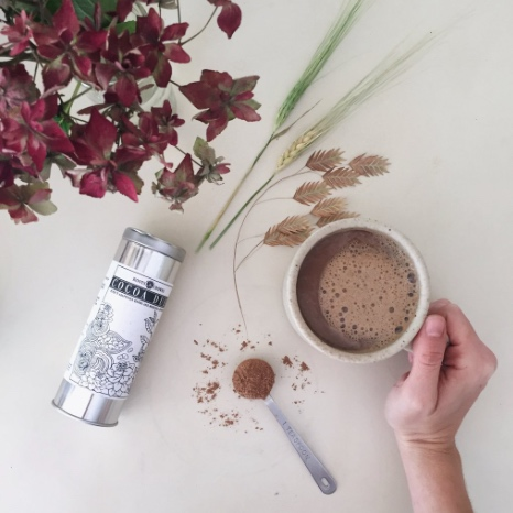 Roots & Crowns Cocoa Dust   This is so delicious in coffee on cold days, and offers a little more boost to my step … LOVE!