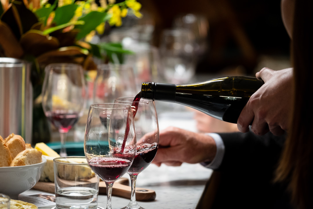 Wine & food Tasting Events - Eating quality, nutritious food is something we're rather fond of, it matches our wine philosophy about only putting good stuff in. Ben our Chef produces everything from canapes matched to the evenings wines or even whole roasts to get everyone involved.