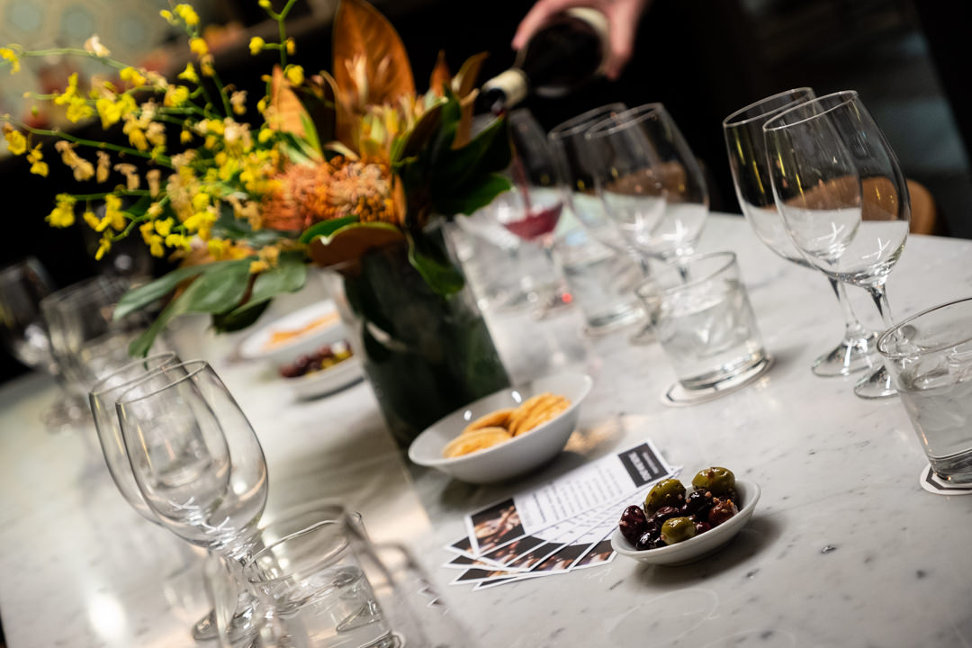 Group wine tasting events in Sydney's CBD