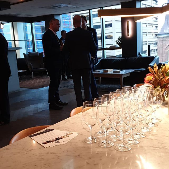 This evening we host @alliancebernstein for a night of wine and matched canapes. . . #winetasting #corporateevent #event #management #cheeseandwine #teambuilding