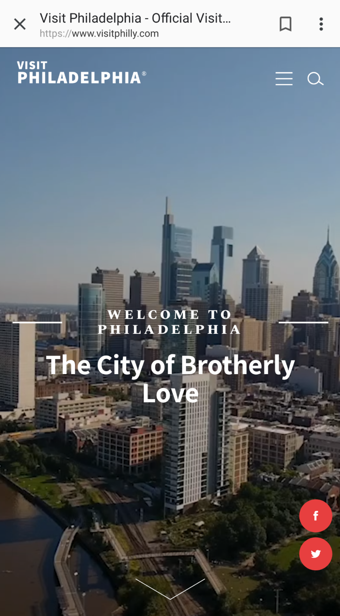 VISIT PHILADELPHIA  's mobile site