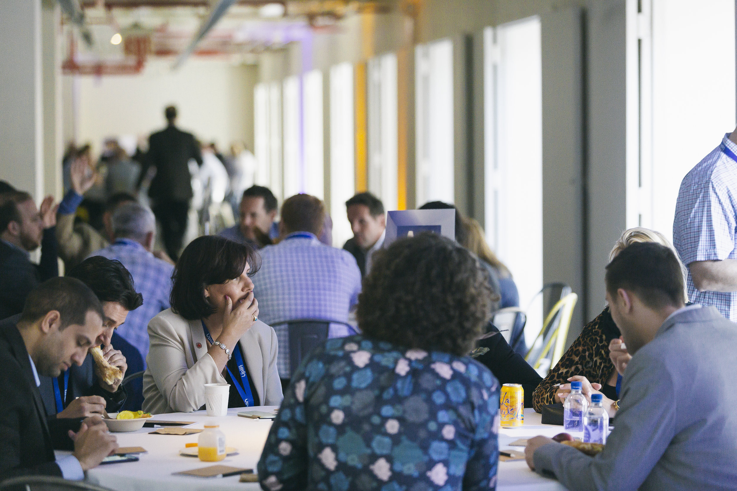 Roundtables in action at the 2019 Travel Disruption Summit at Penn Plaza Pavilion on May 22, 2019