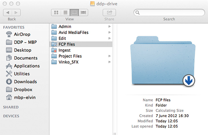 書き込みのみ(ドロップボックス)として設定されたフォルダのアクセス権限