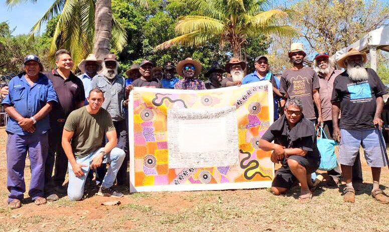 Image of the Uluru Statement from the Heart at the KLC, KALACC and AARNJA AGMs. Photo courtesy of Thomas Mayor