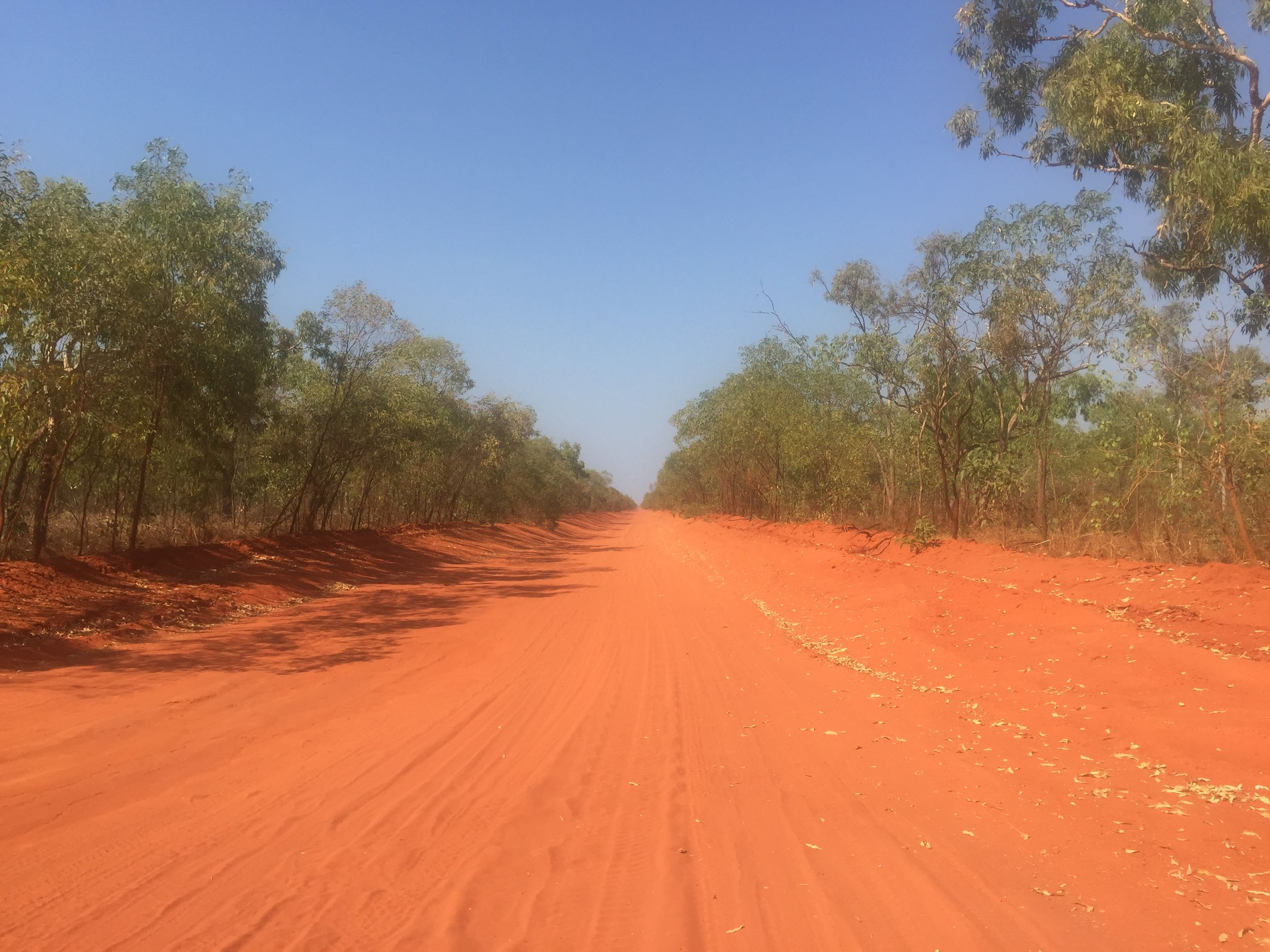 The road to Bardi country from Broome, West Kimberley region of WA.