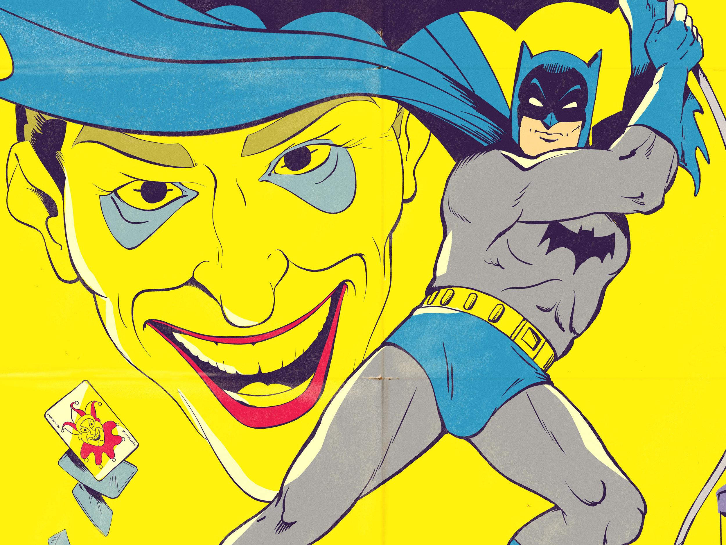 Batman and Joker 1950's