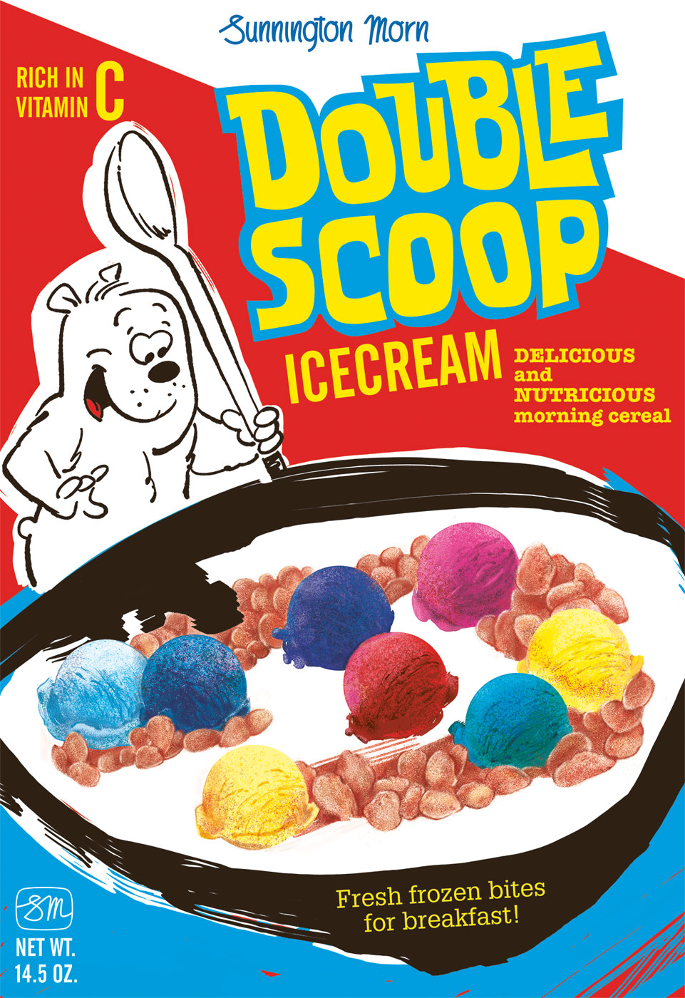 Double Scoop Cereal Box