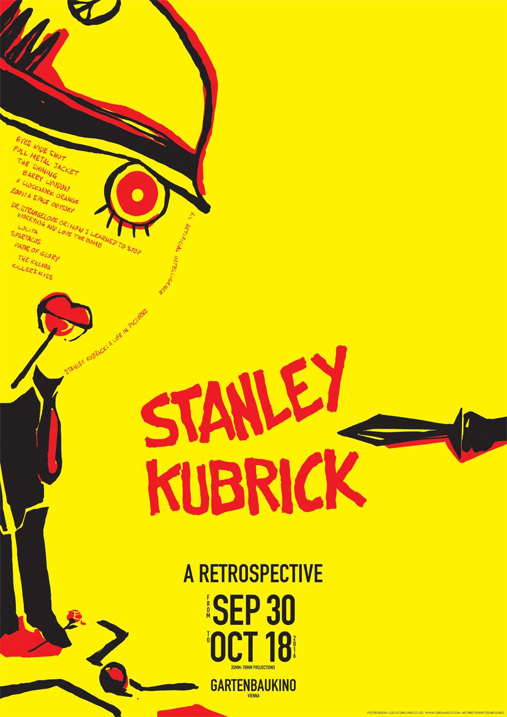 Stanley Kubrick Retrospective Poster