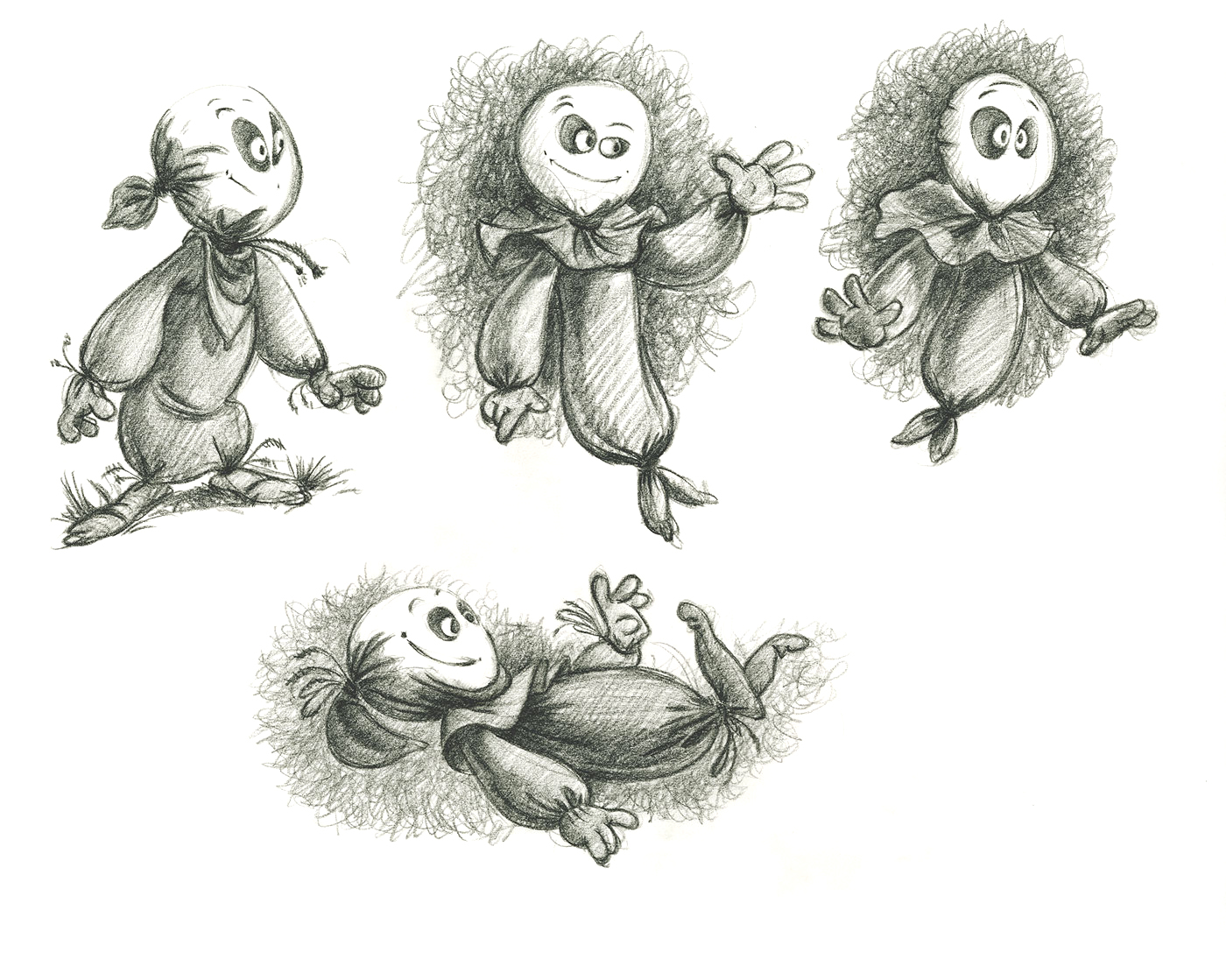 Spooky Ghosts - Book Illustration - concept art