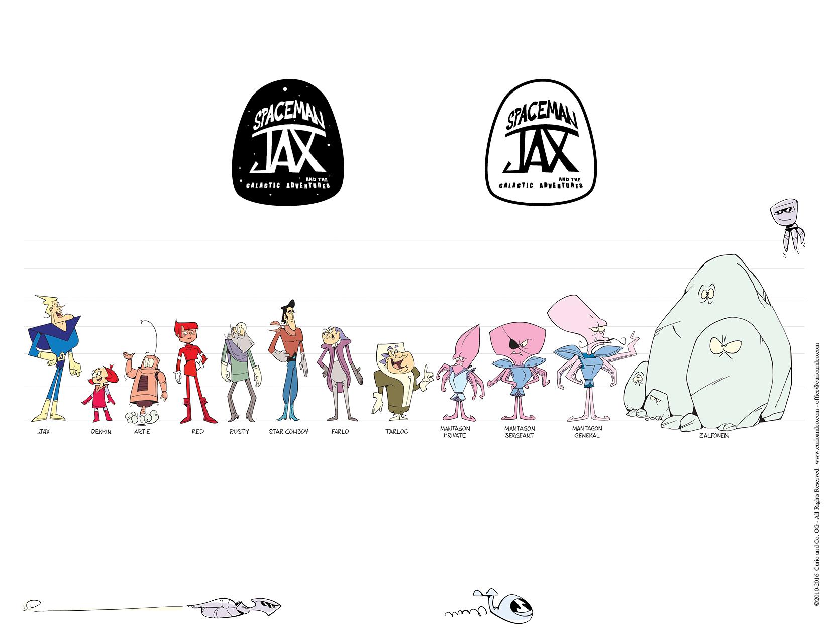 Spaceman Jax - Character Line-Up