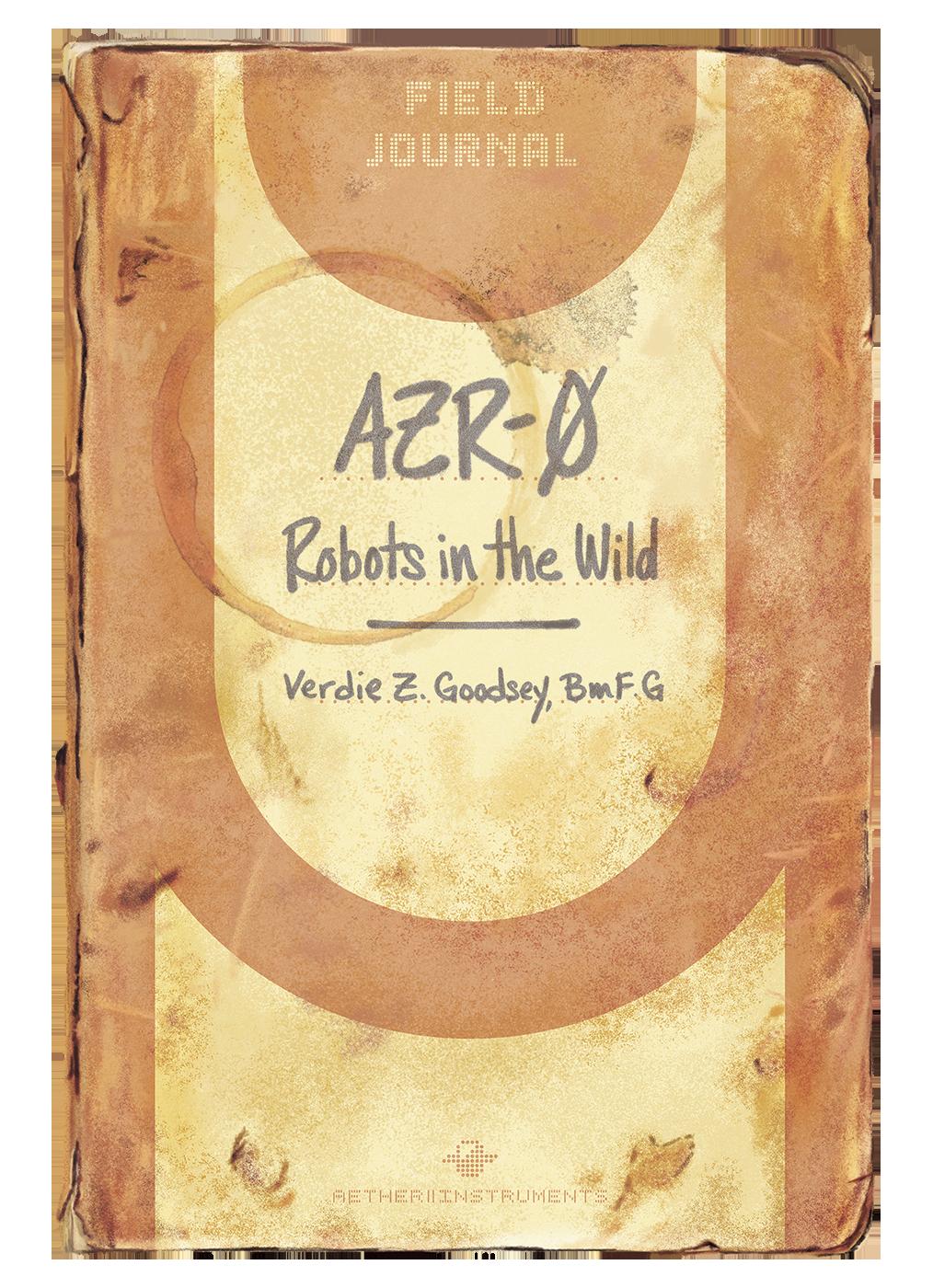 AZR-0 Robots in the Wild - Book Cover Design