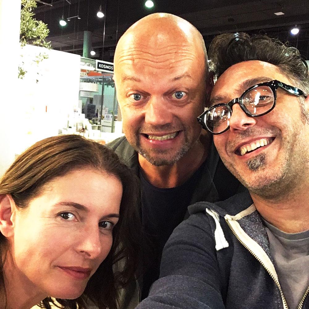 from left Marlies Kirchler, Wolfgang Hartl, Cesare Asaro at the Frankfurt Book Fair 2017