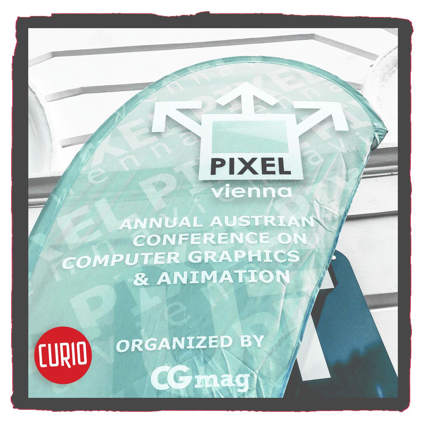 Pixel Vienna 2017 banner - workshop by Curio & Co.