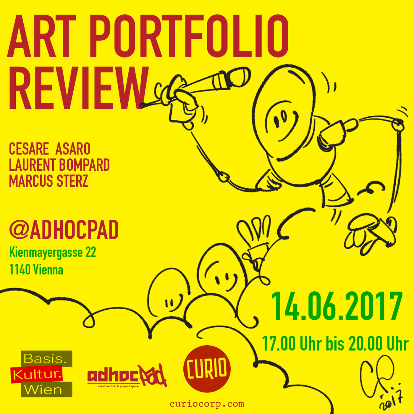 Art Portfolio review with Cesare Asaro Lurent Bompard and Marcus Sterz