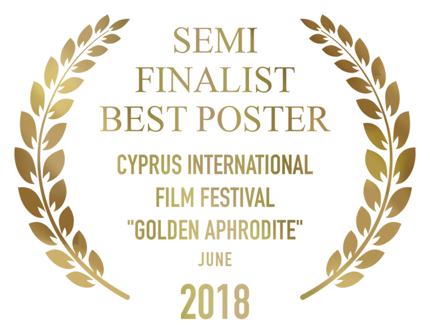 "Fragments Semi-Finalist Best Poster Cyprus International Film Festival ""Golden Aphrodite"" June 2018 Design by Cesare Asaro"