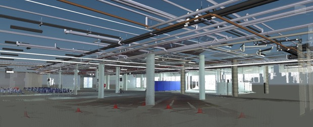 AN AS-BUILT MODEL OF A FACILITY, FEATURING WELL MODELED PIPES, COLUMNS, BEAMS AND OTHER DETAILS, AS PER OUR CLIENT'S REQUIREMENTS