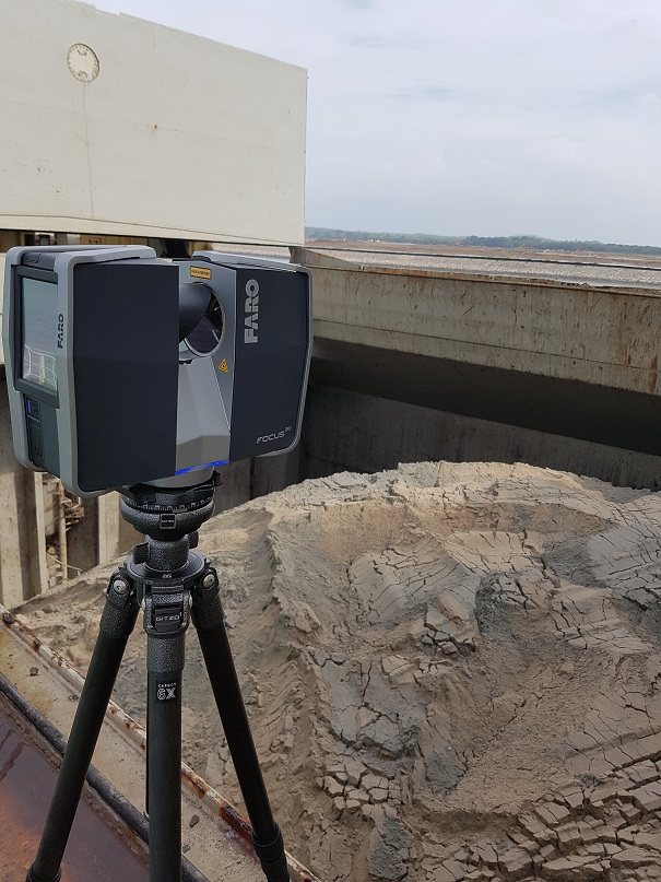 3d laser scanning is able to document the profile of sand, a growing requirement in the sector these days