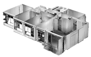 3D point cloud data of an apartment, done by a 3d laser scanner