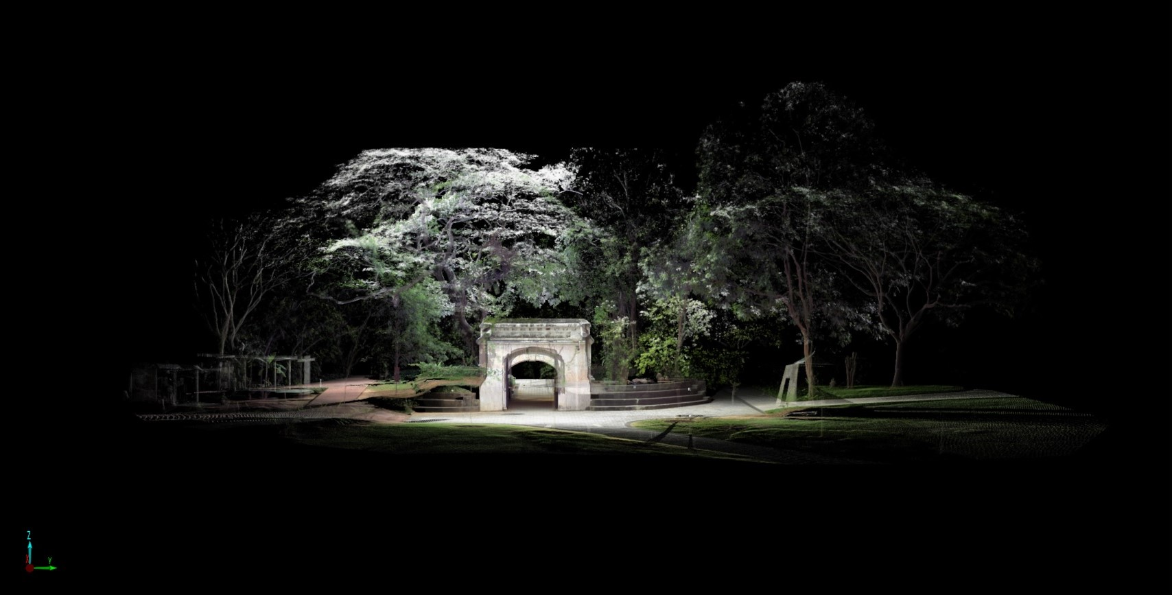 Fort Canning Gate - Front View