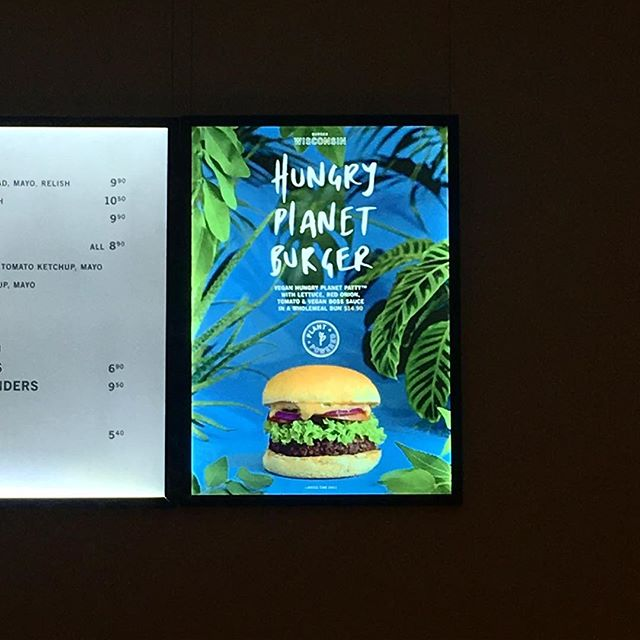 Some hang made type, art direction and plant wrangling for Burger Wisconsin at Luc Identity