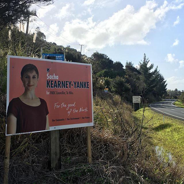 Political billboard. Vote Kearney-Yanke for FNDC.