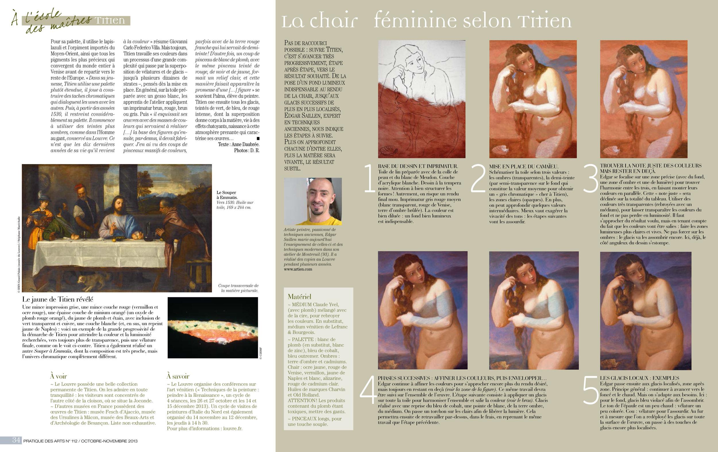 """Paru dans """"Pratique des Arts"""" N°112"""