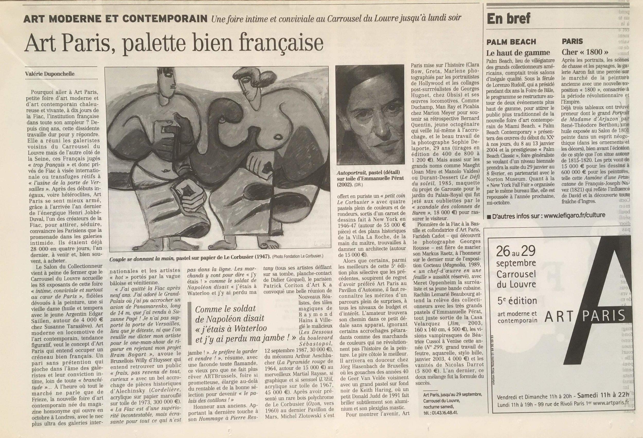 LE FIGARO Septembre 2003