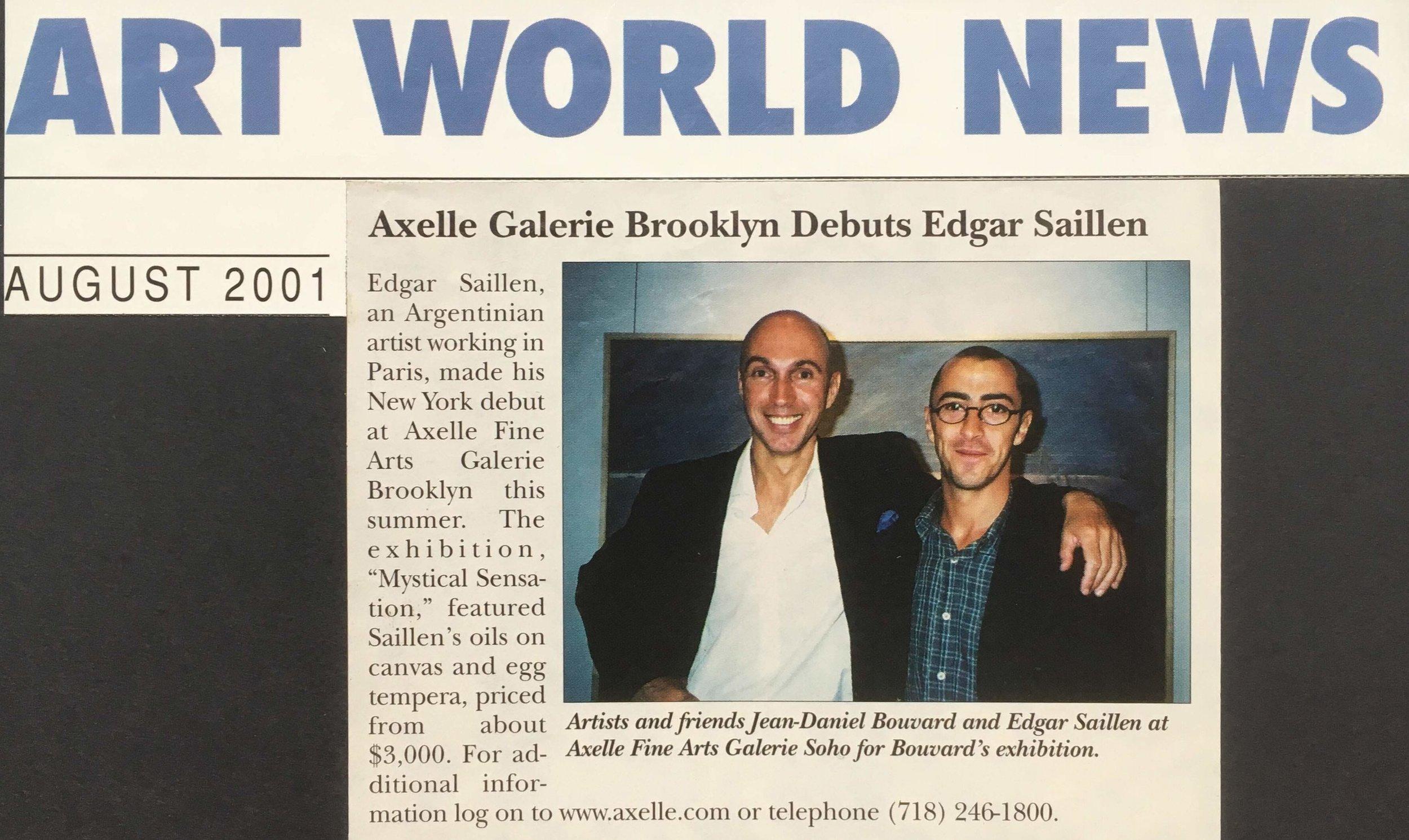 ART WORLD NEWS 2001