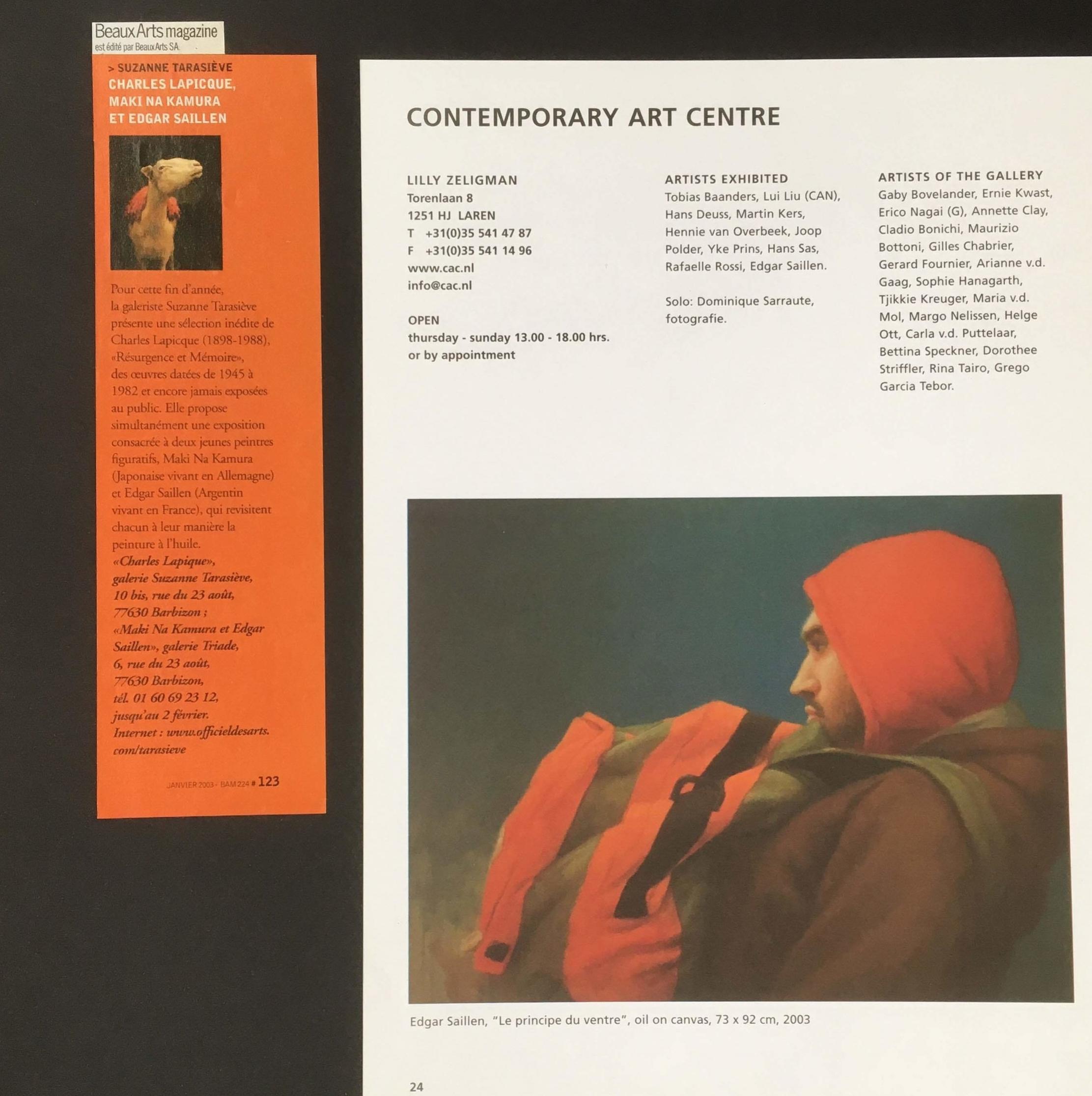 BEAUX ARTS Magazine 2003
