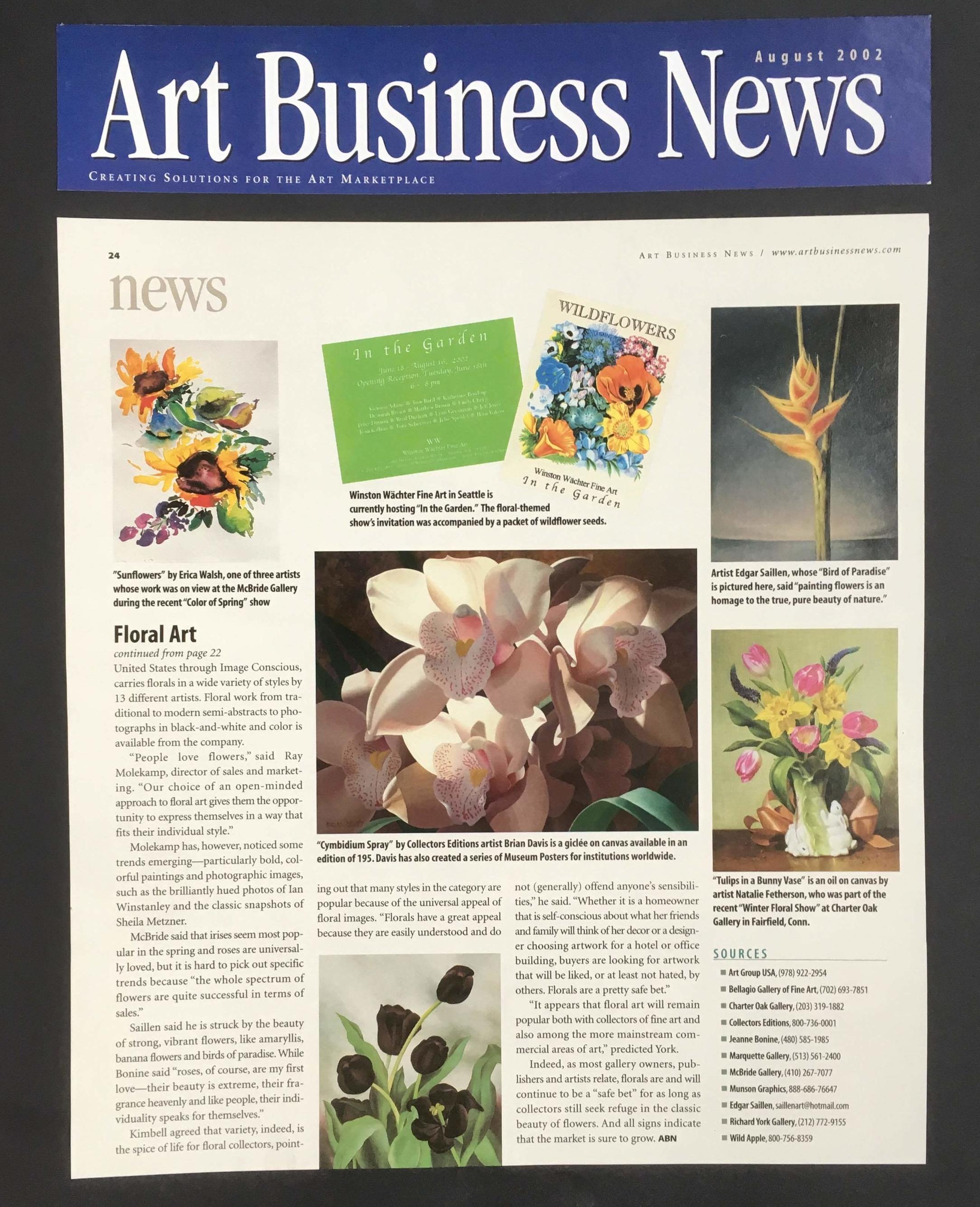 ART BUSINESS NEWS 2002