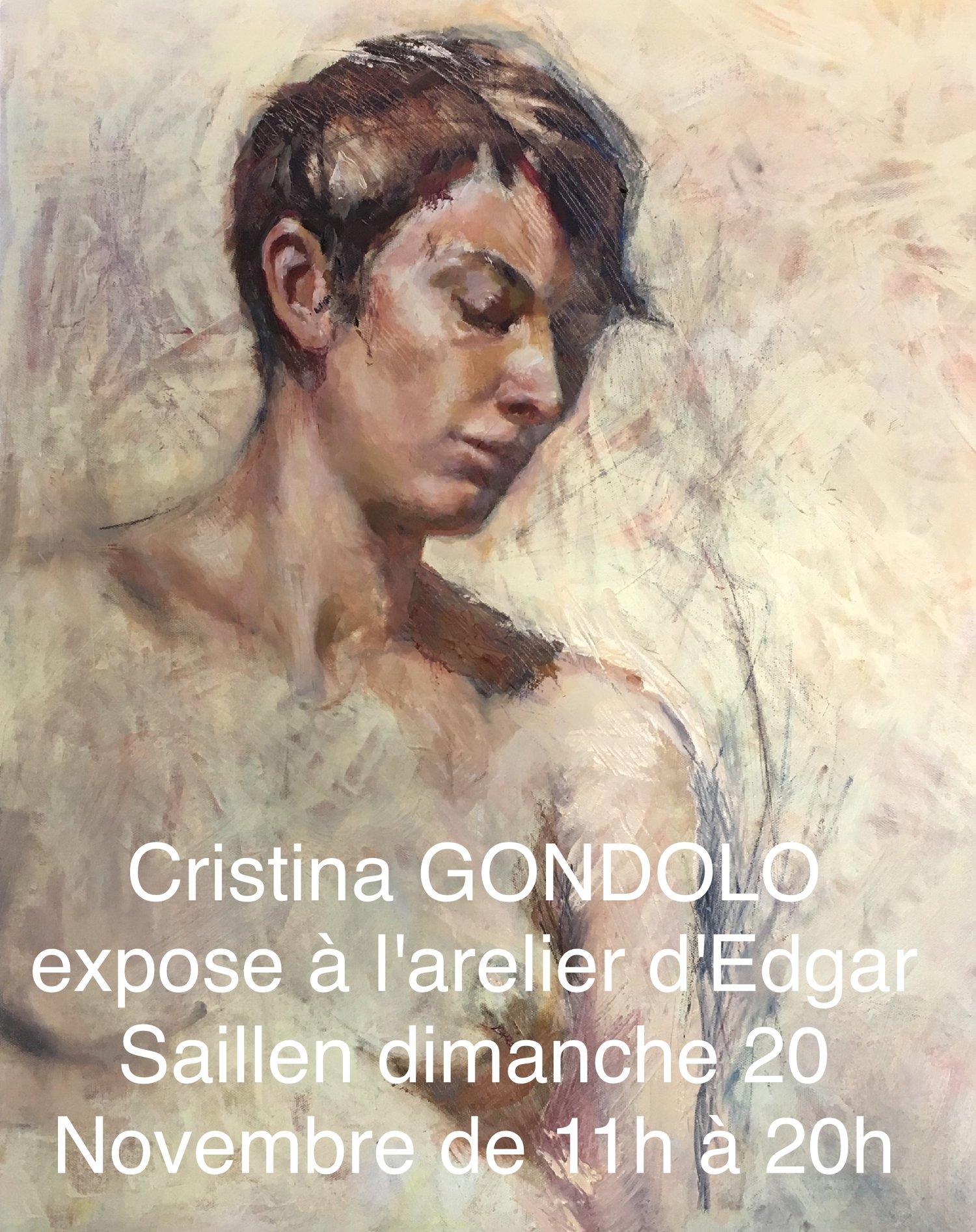 Portrait de Rebekka, huile sur toile de Cristina Gondolo.