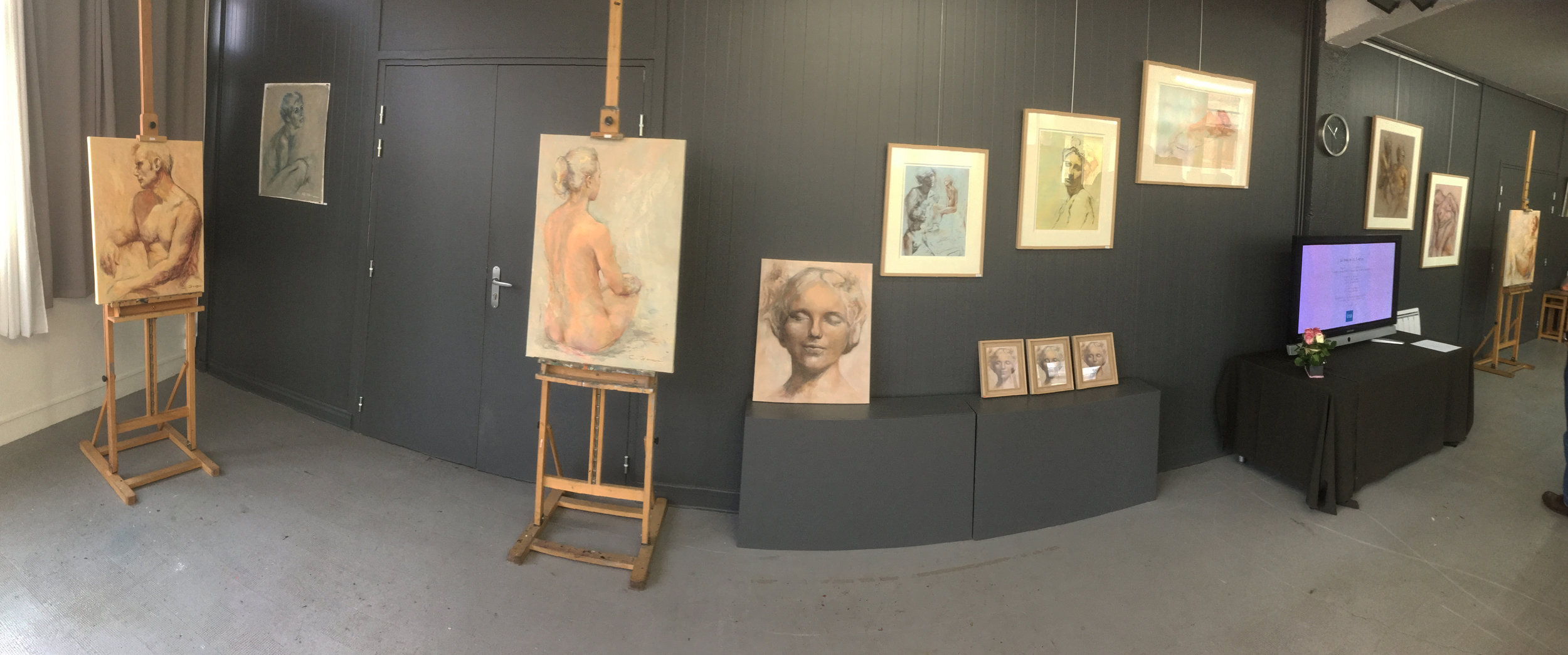 Vue de l'exposition de Cristina Gondolo 2016