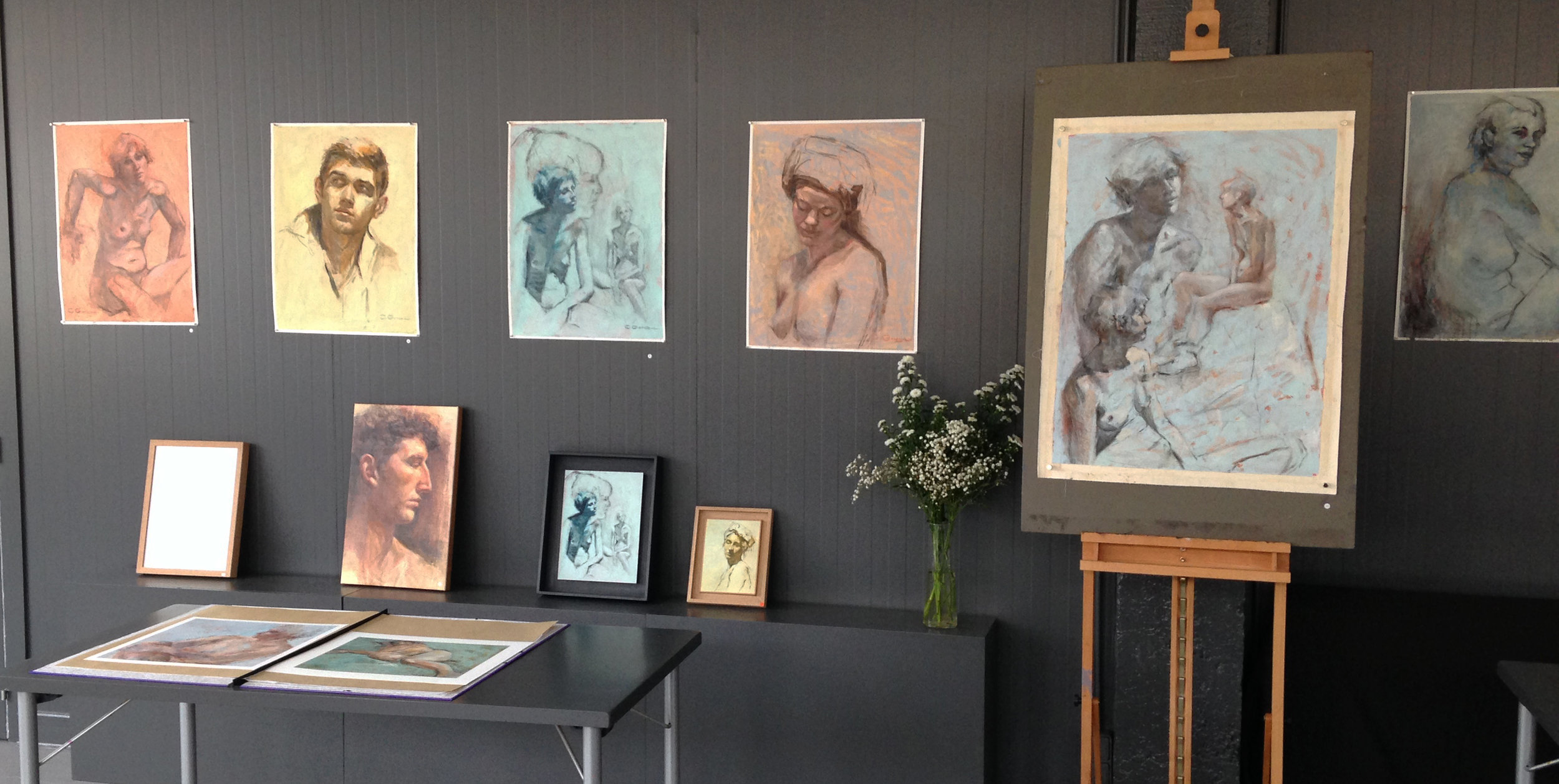 Vue de l'exposition de Cristina Gondolo 2015