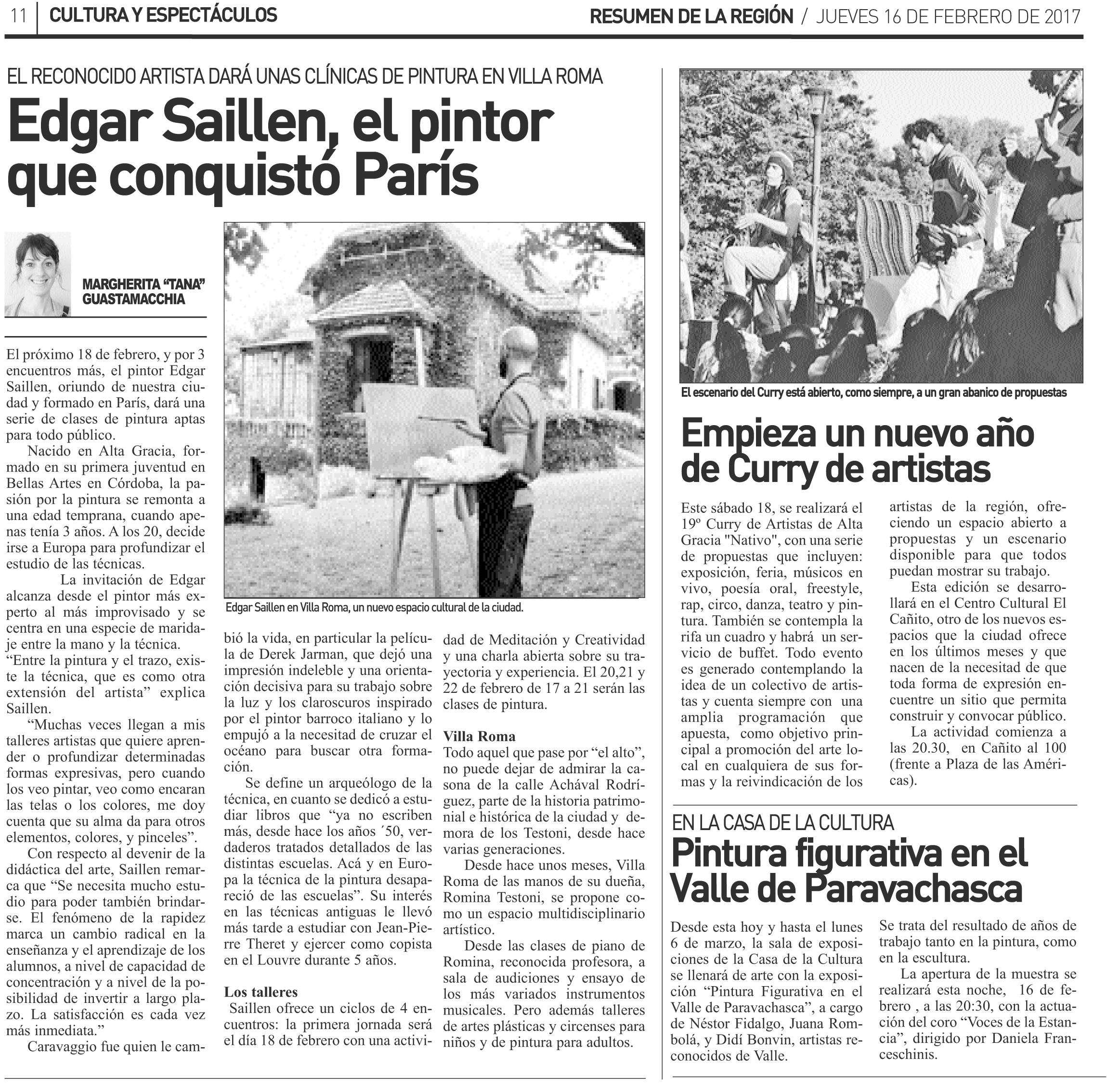 Diario Resumen Février 2017