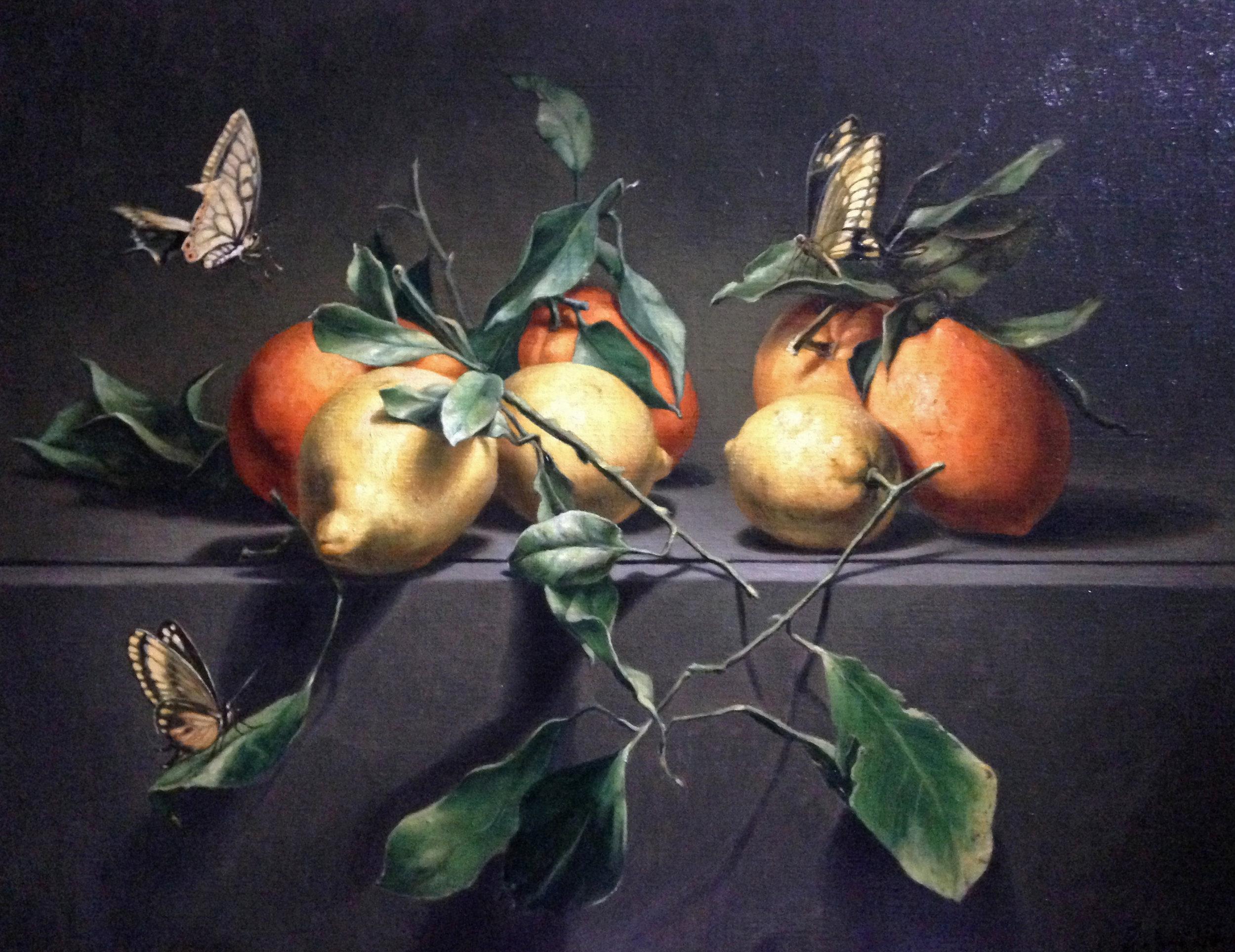 """""""Nature morte aux oranges"""" 73x60cm"""