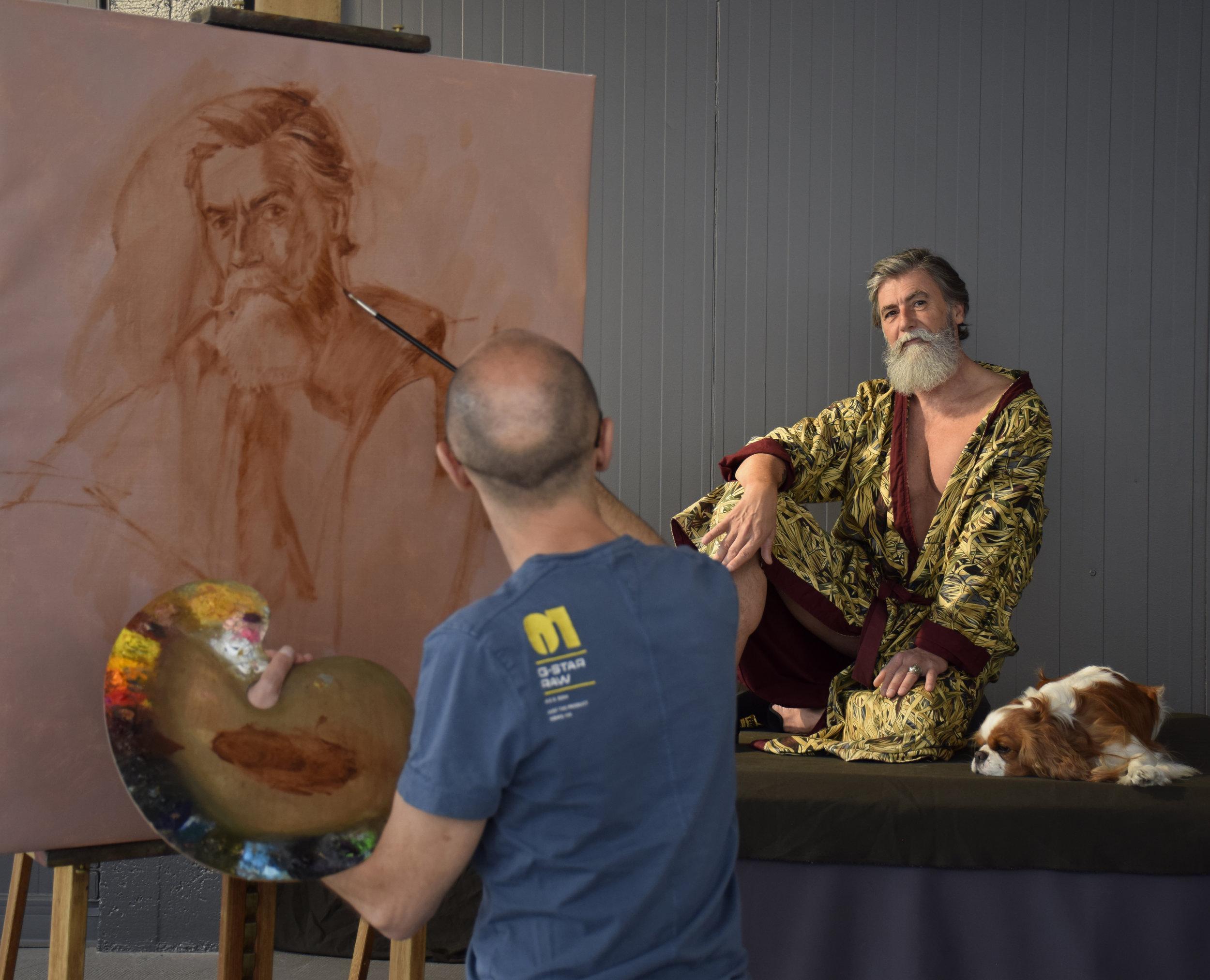 Séance de portrait de Philippe Dumas.