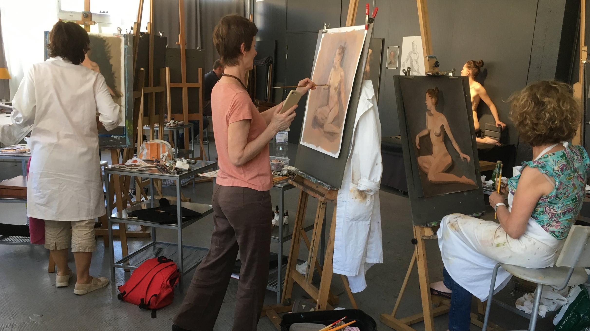 Stage de dessin et peinture avec modèle vivant à Paris, Montreuil, Vincennes.