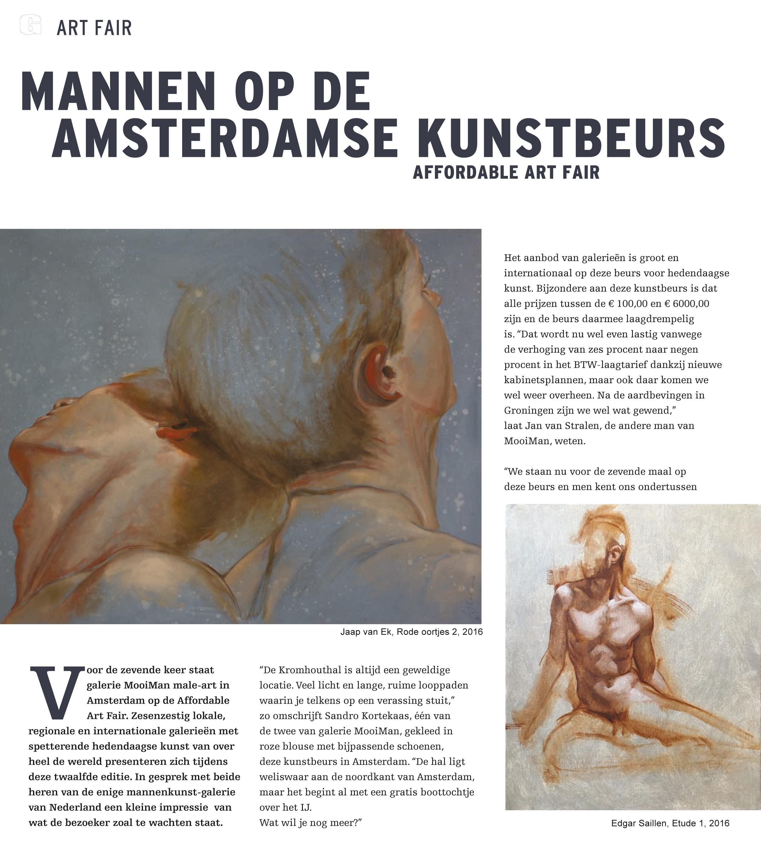Art Fair Magazine, Amsterdam 2017.