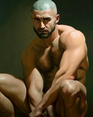 My Portrait of the great @francoisssagat Oil Painting #malemodel #francoissagat @galerie.mooiman.male.art #maleart #oilpainting #figurativeart #portraitmaster