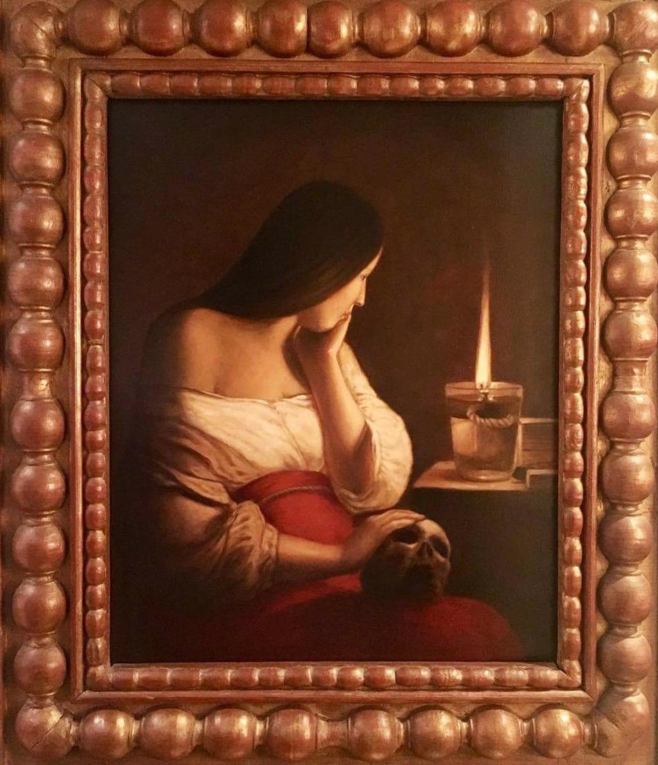 Copy of original by Georges de la Tour ( Louvre Museum )made by Edgar Saillen