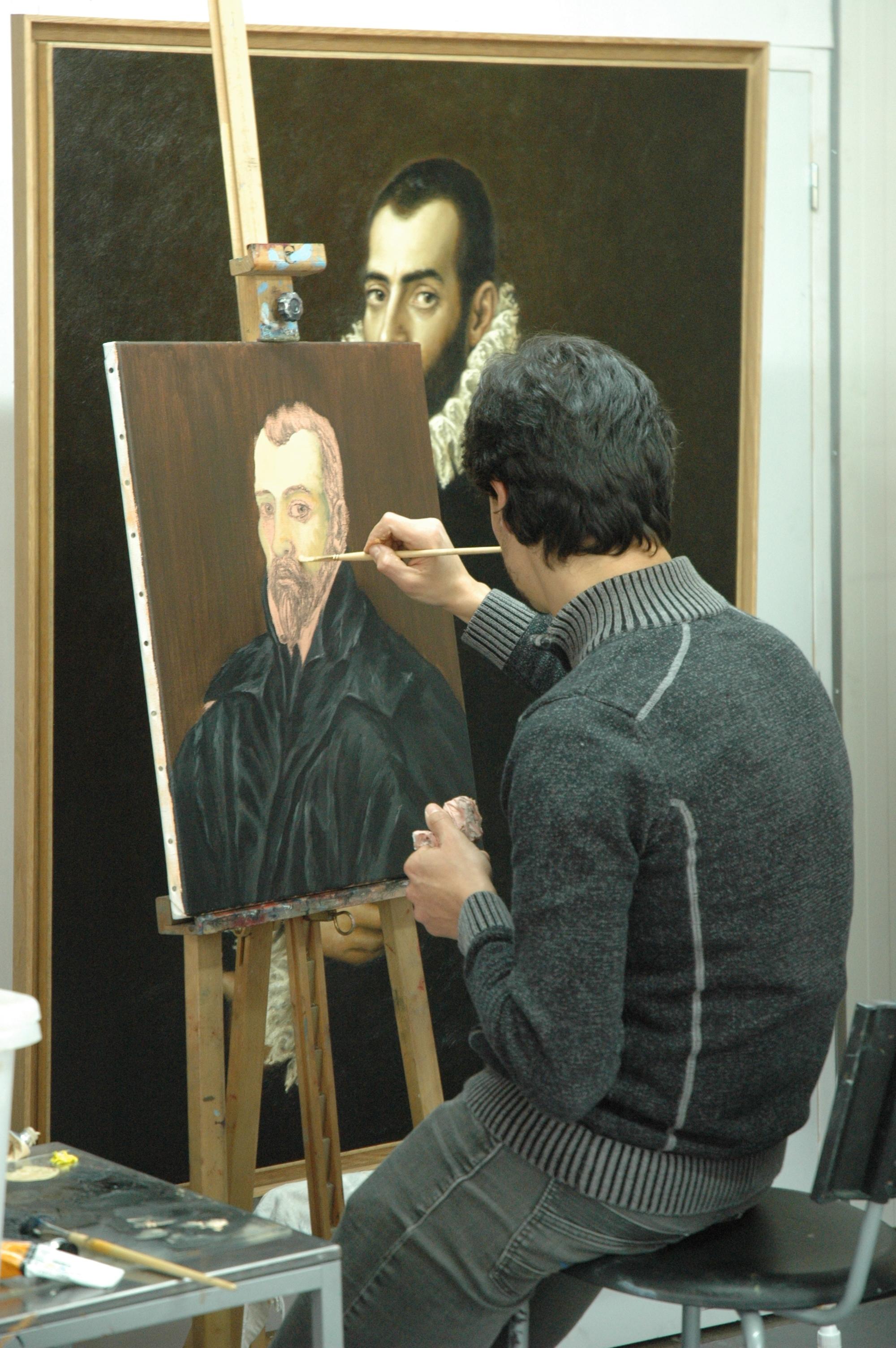 Edgar's Student copying Old Master El Greco