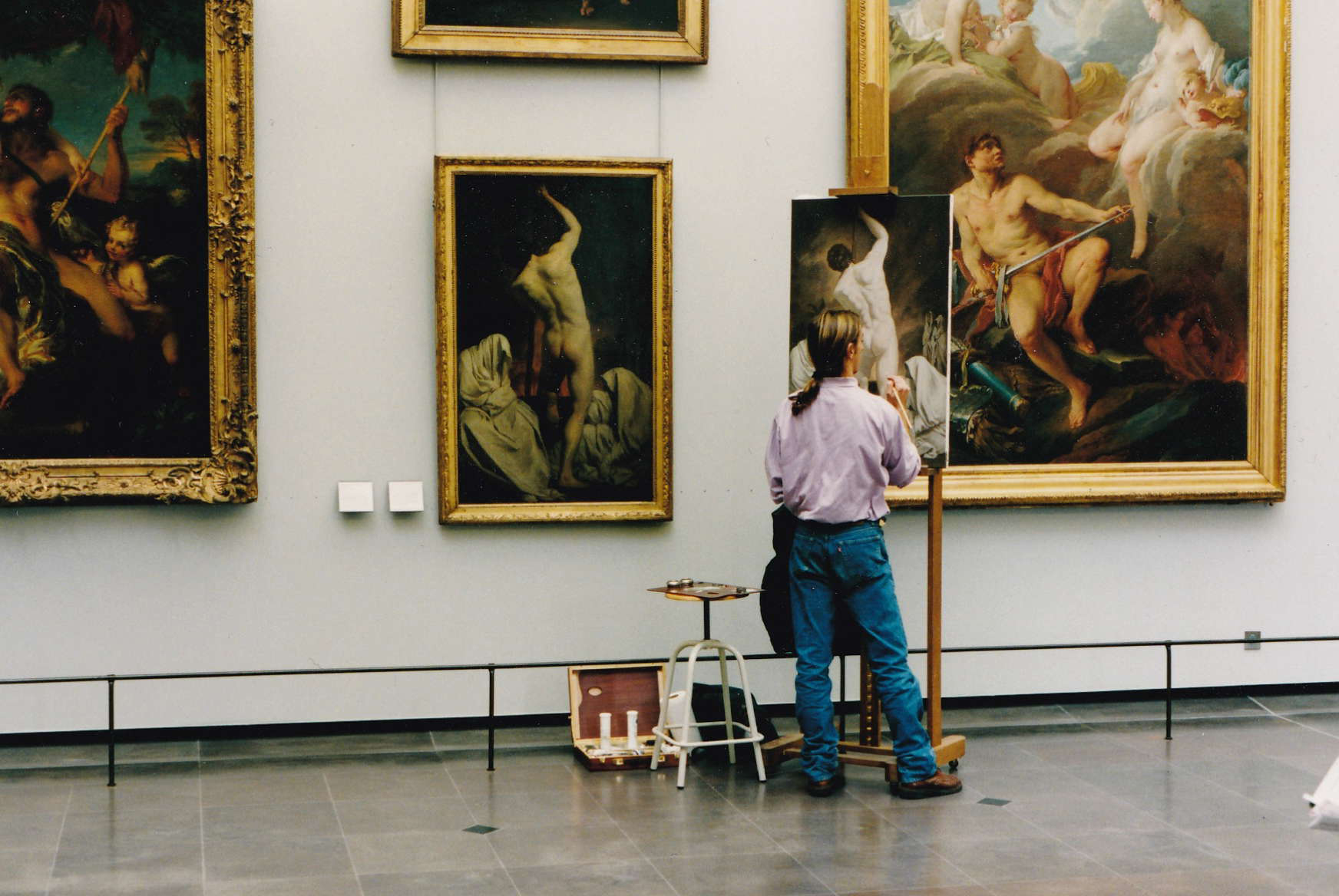 Edgar's painting in the Louvre Museum of Paris in the 90'
