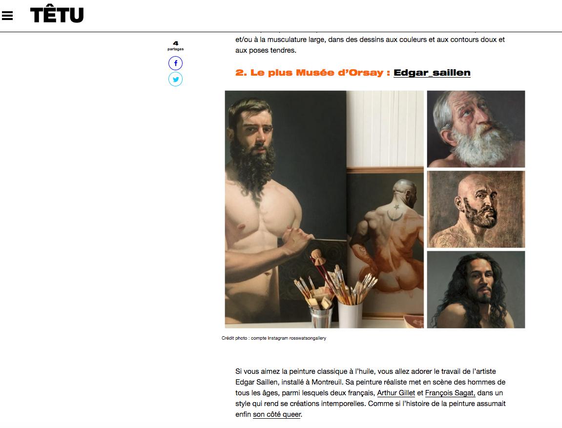 Paru dans TETU magazine, Paris octobre 2018