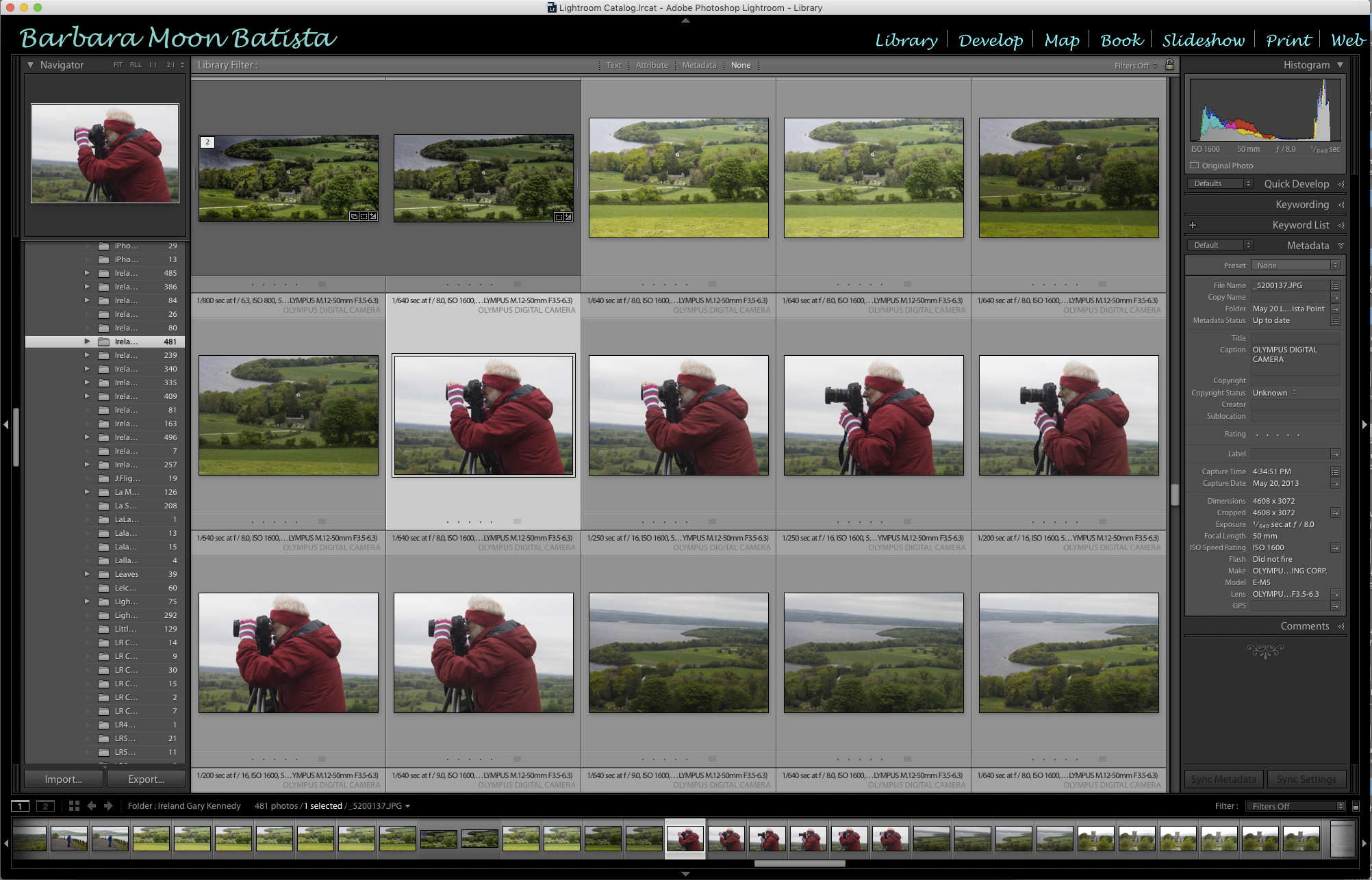 Lightroom Library Preview Screen