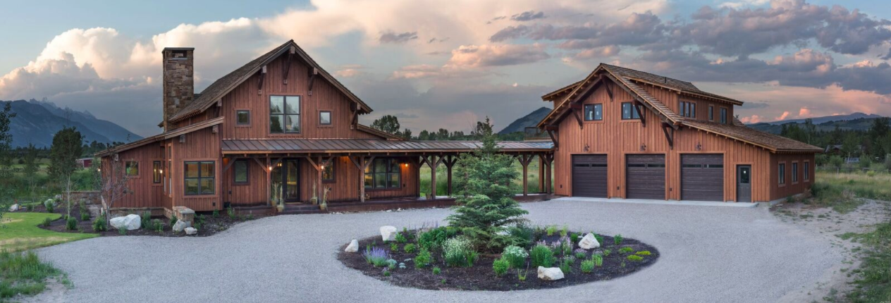 timberframe home in jackson hole