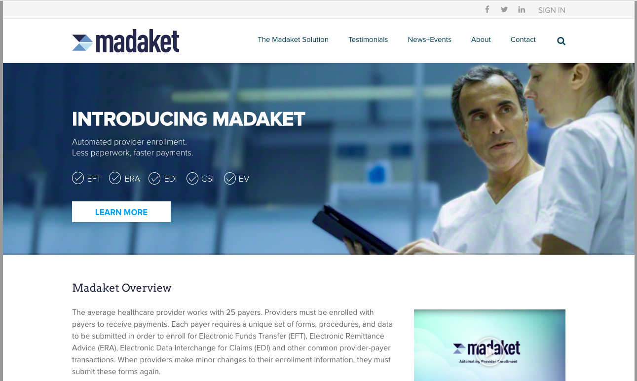 Health care - Deep Green is partnered with Madaket Health to provide web services and full stack development. Madaket is a fast-growing startup dedicated to improving the payment and credentialing process for health care providers, hospitals, and insurance companies.