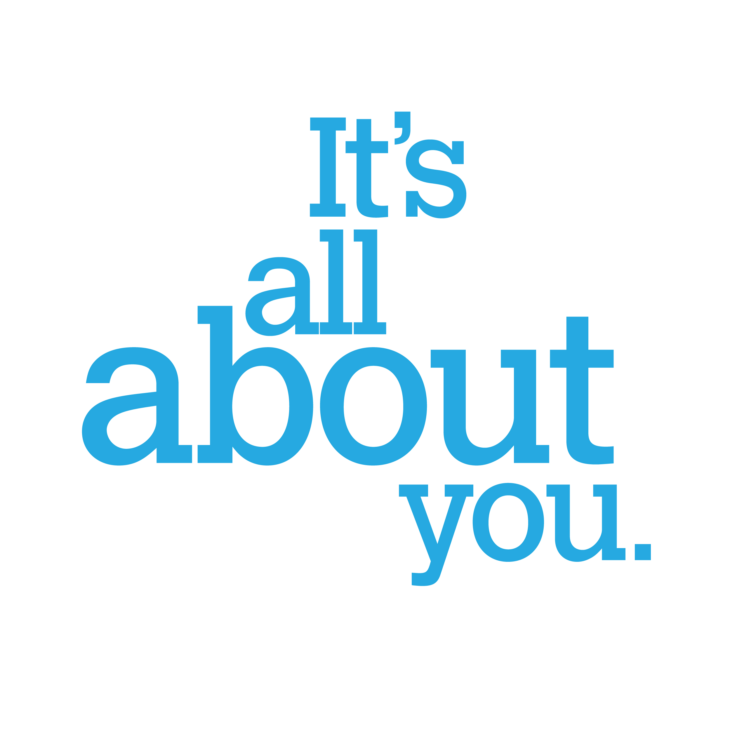 It's All About You Logo