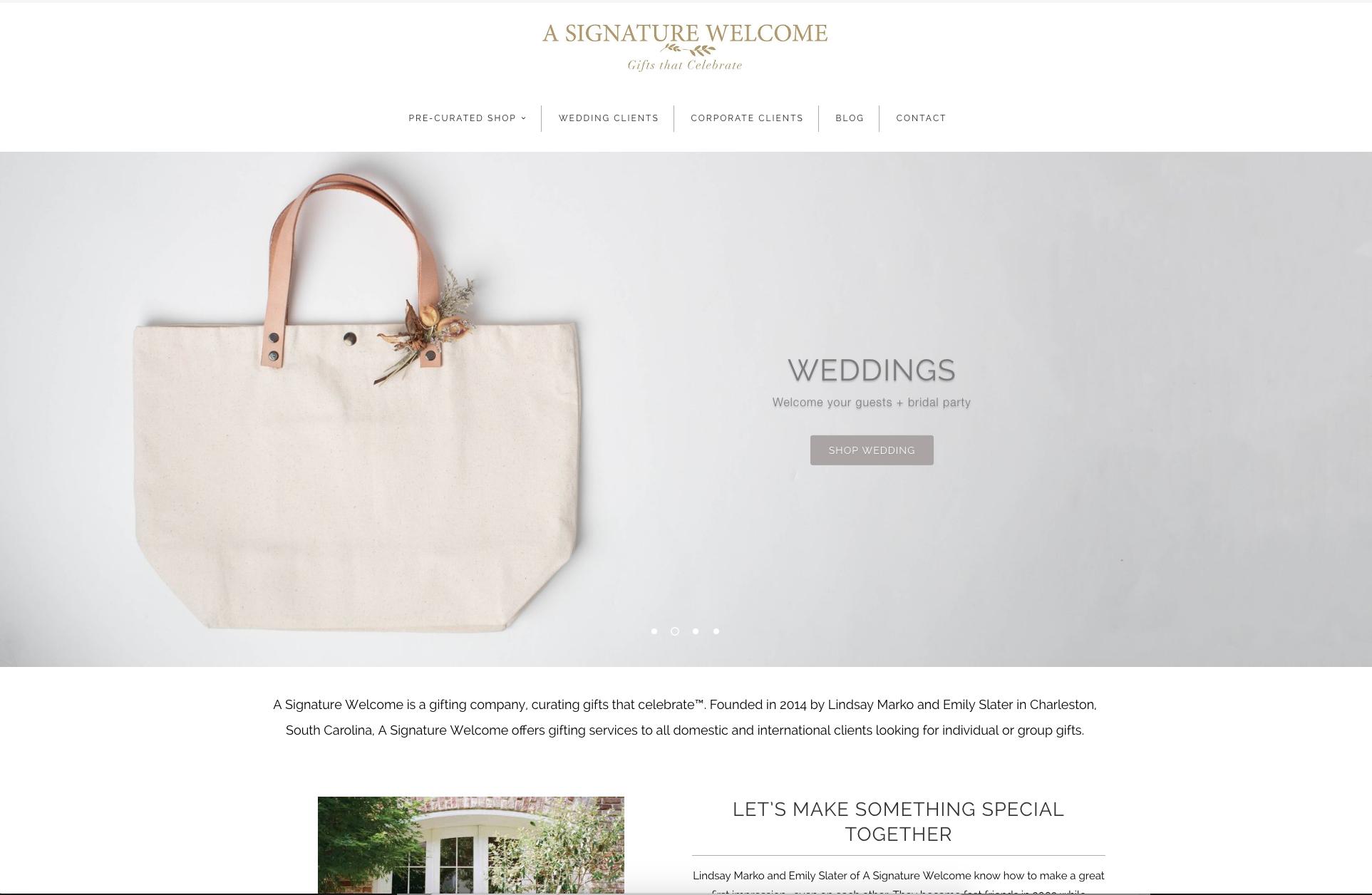 Design: A Signature Welcome Shopify Site, Charleston, SC